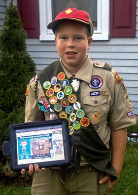 Donovan The Popcorn Scout With iPad