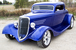 American Autowire Blue Car