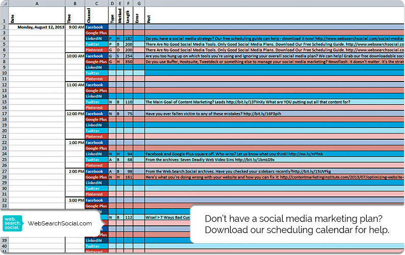 There Are No Good Social Media Tools. Only Good Social Media Plans. Download Our Free Social Media Content Calendar.