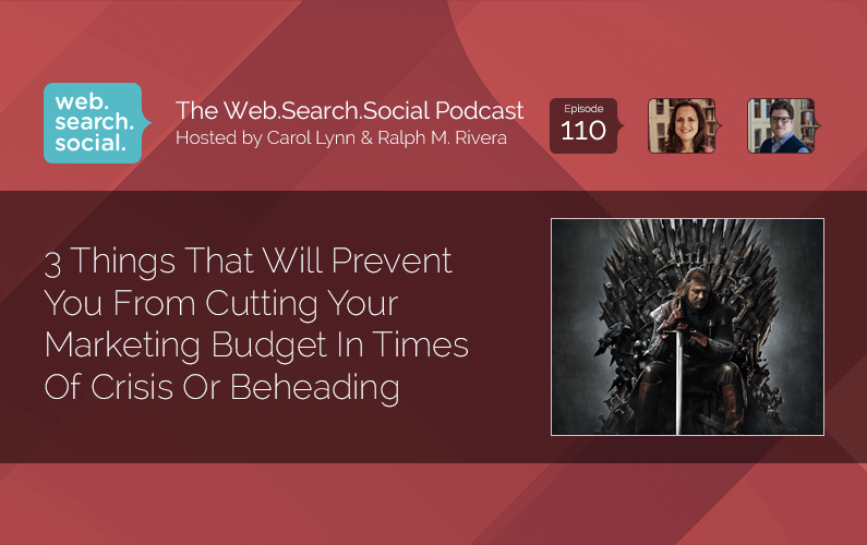 Don't cut your marketing budget in times of crisis without listening to this episode.